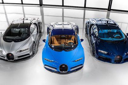 Первые три Bugatti Chiron отправились к своим владельцам