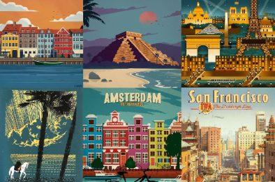 Постеры: винтажная туристическая реклама для вдохновения