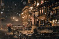 Волшебство зимней Японии в фотографиях из онсэнов