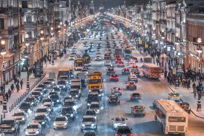 Видео 6K: зимний Петербург с высоты