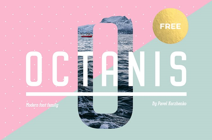 octanis бесплатный шрифт