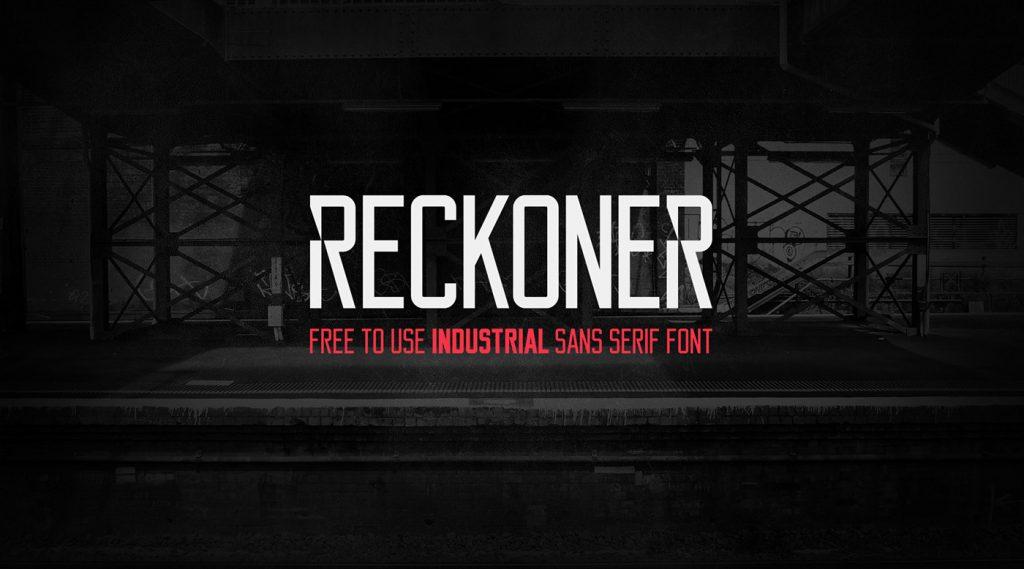 reckoner бесплатный шрифт